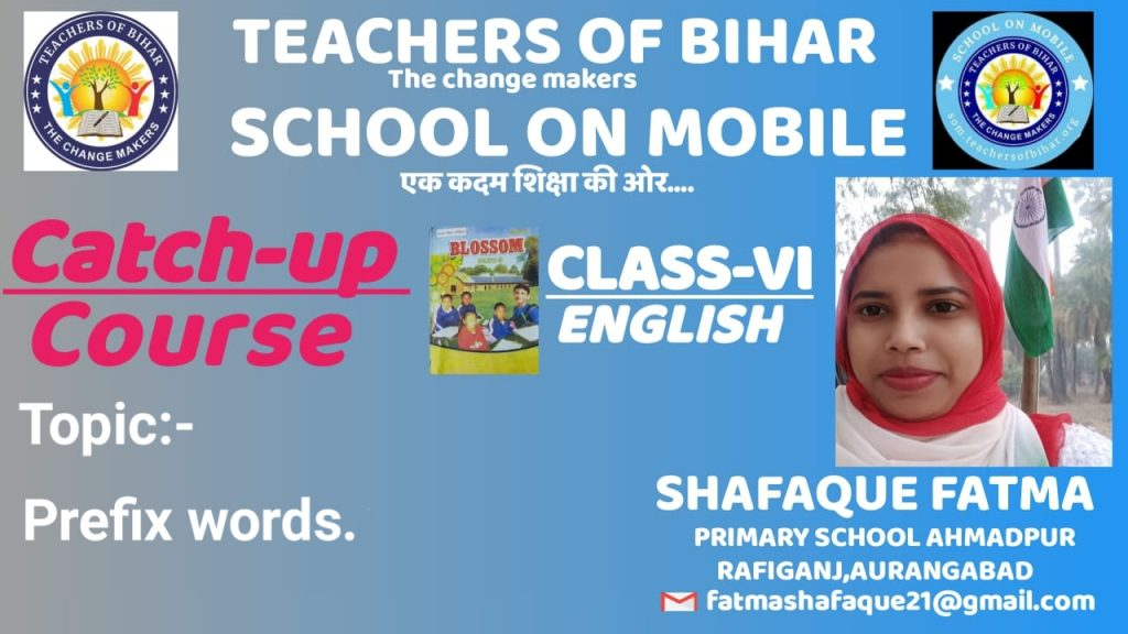 Catch-up course | 24th  Day | class VI | subject English | Lesson  BIRBAL'S WIT  | Topic various prefix words  |